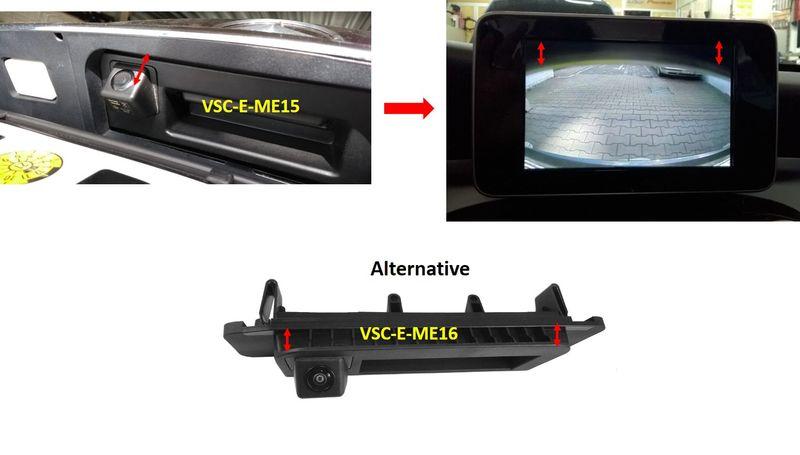 Rückfahrkamera-komplett-Set für Mercedes C-Klasse W205 ...